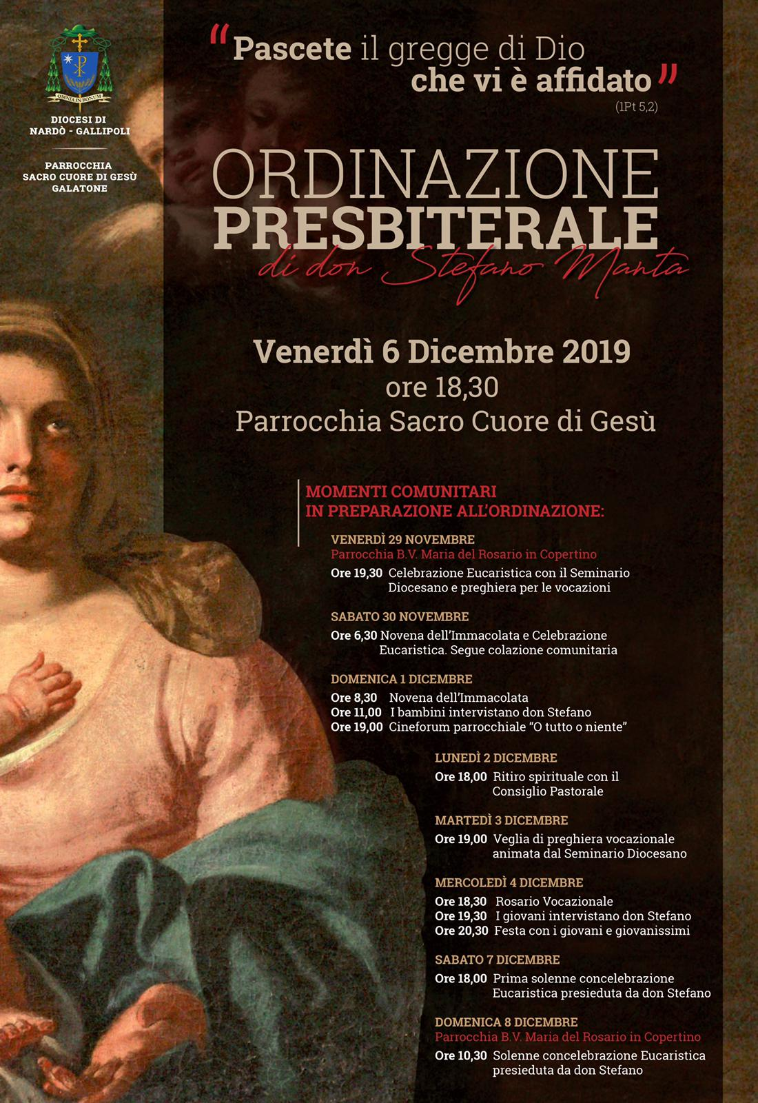 Ordinazione presbiterale di don Stefano Manta