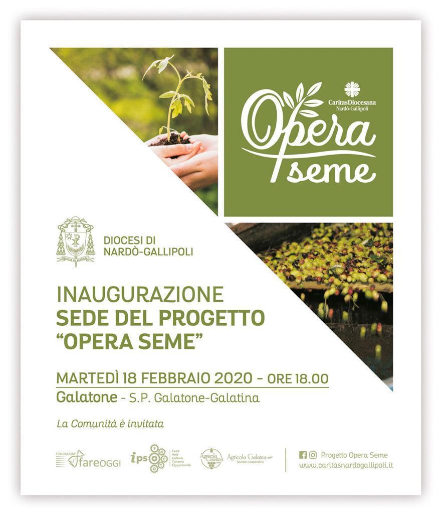 Progetto Opera Seme: inaugurazione della sede