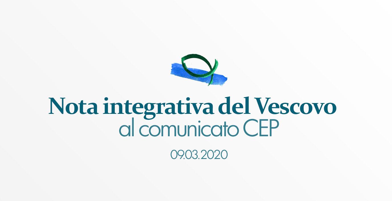 Nota integrativa del Vescovo Fernando al Comunicato della CEP
