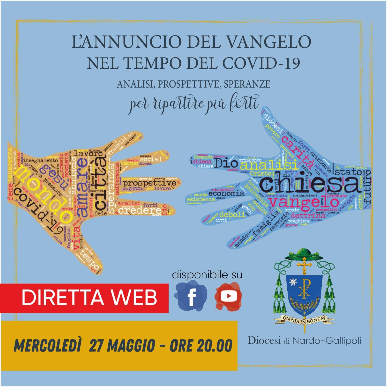 Diretta web – Presentazione del sussidio diocesano sull'annuncio nel tempo del Covid-19