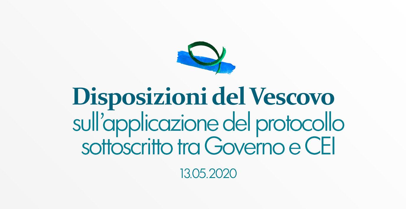 Disposizioni del Vescovo sull'applicazione del protocollo Governo-CEI