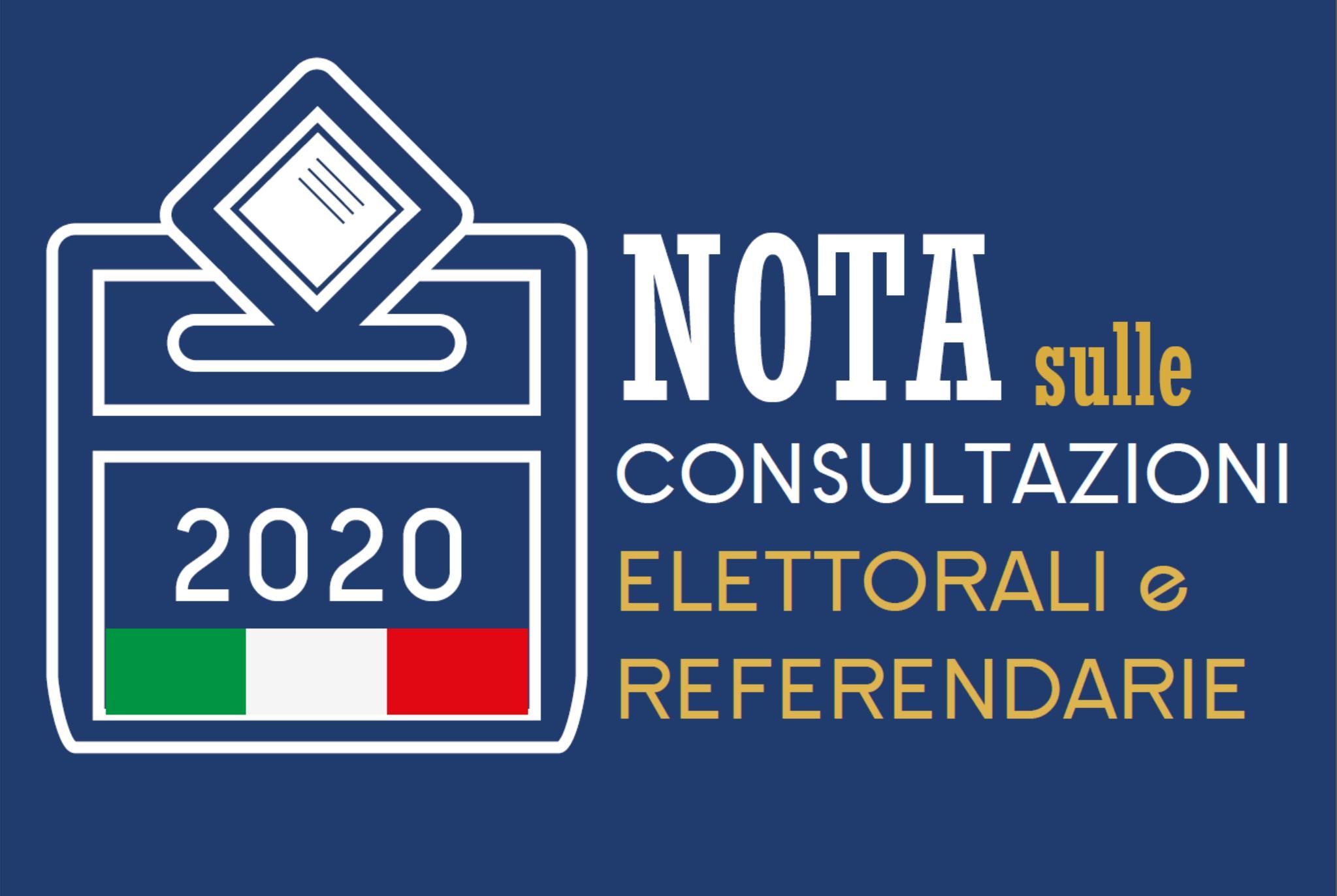 Nota in vista delle prossime consultazioni elettorali e referendarie